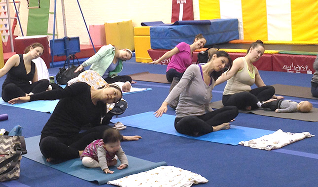 Mommy and Baby Yoga classes at Discovery Programs in NYC