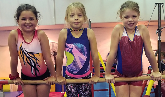 Artistic Gymnastics - students begin developing the required skills for USAIGC